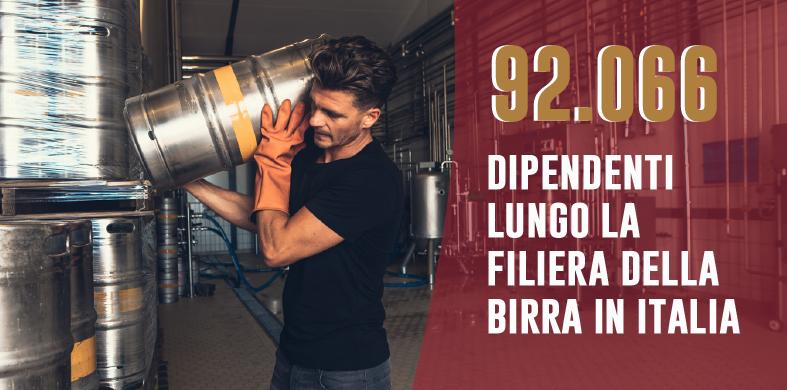 La birra in Italia dà lavoro a 92 mila persone